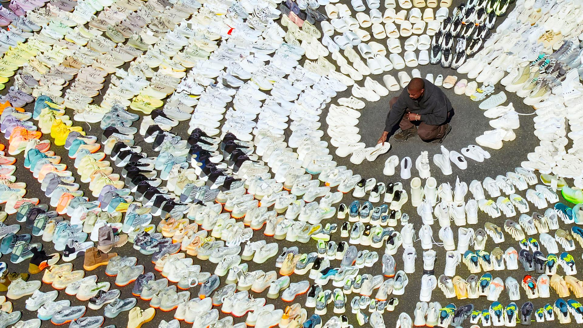 Kanye shows off Thousands of YEEZY Samples with Forbes