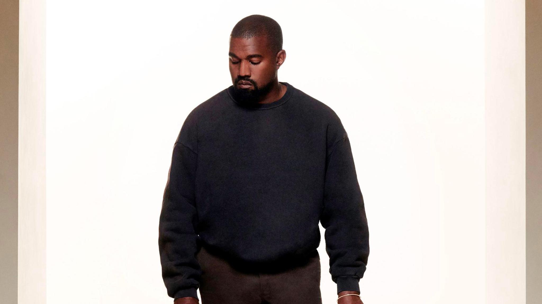 Kanye seen in a YEEZY 700 V3 Prototype