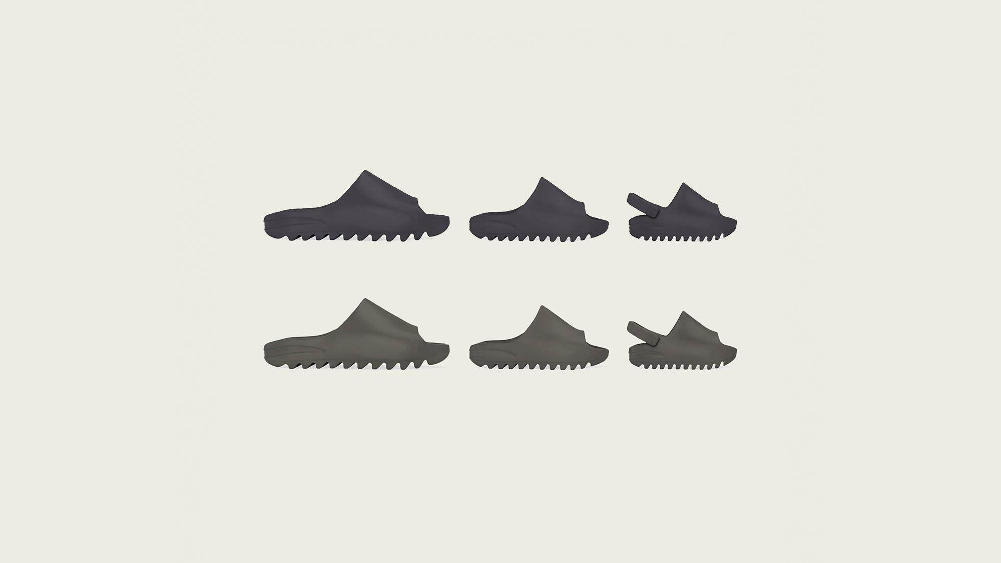 """YEEZY SLIDE """"Soot"""" and """"Core"""" Revealed"""