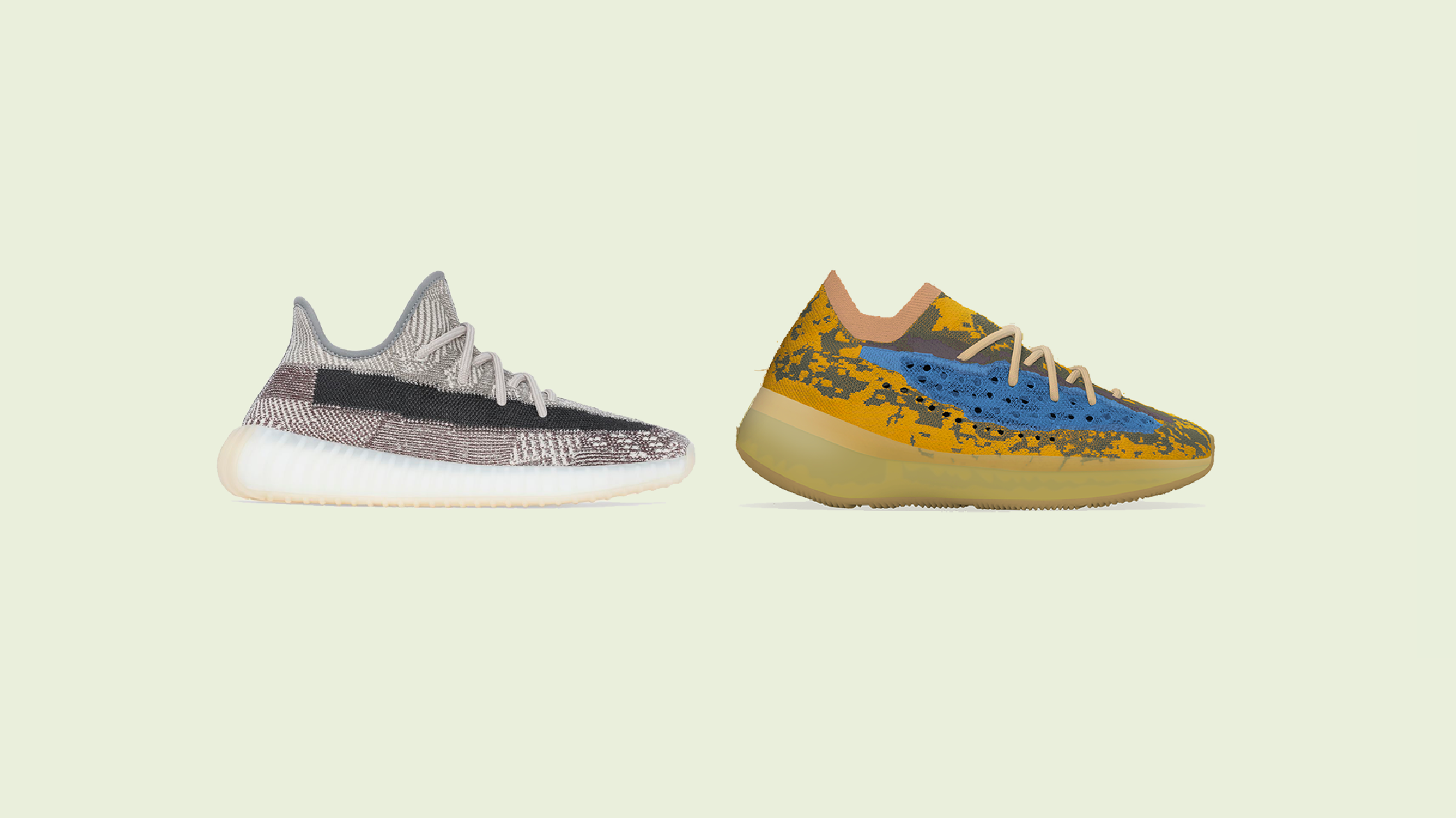 "YEEZY BOOST 350 V2 ""Zyon"" and YEEZY BOOST 380 ""Blue Oat"" New Release Dates"